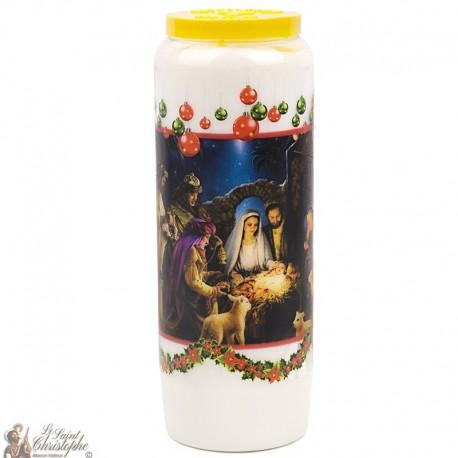 Bougie Neuvaine de  Noël - prière français