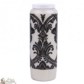 Decorative candle with Baroque tapestry picture