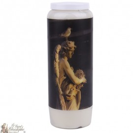 Bougie décorative image statue ange