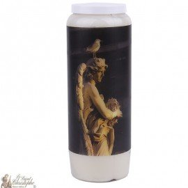 Decorative candle with angel statue picture