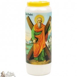 Novena candle to Saint Andrew - French prayer