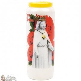 Novene Kerze zu Unserer Lieben Frau von Rosen - Deutsches Gebet