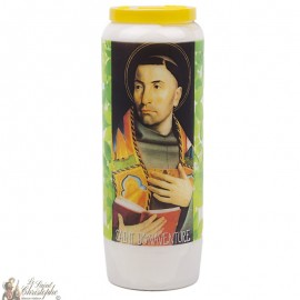 Novena Candle to Saint Bonaventure - French Prayer