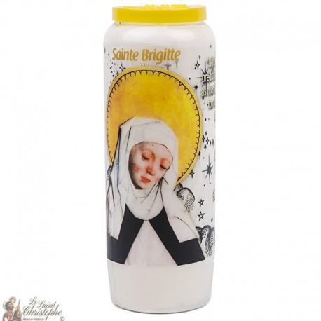 Bougie Neuvaine Sainte Brigitte - prière français