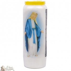 Novena Candle to the Holy Virgin - French Prayer