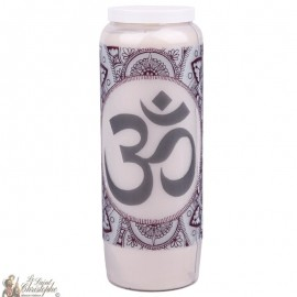 Novena candle with Aum symbol picture