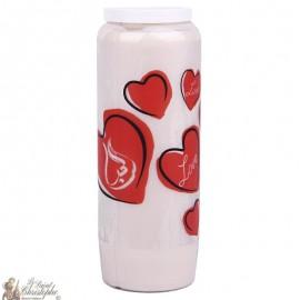 Bougie décorative Love - arabe