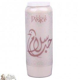 Noveenkaars decoratieve Peace - arabe