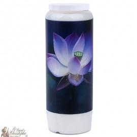 Bougie décorative avec citation en français - Lotus