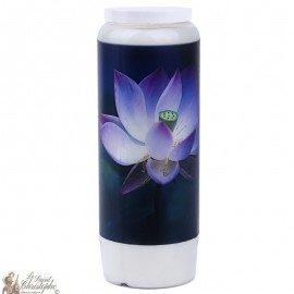 Vela decorativa con cita en francés - Lotus