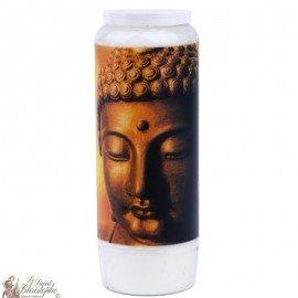 Vela decorativa con cita en francés - Buda