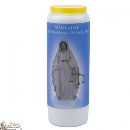 Bougie Neuvaine  à Notre Dame de Justice - prière français