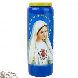 Bougie Neuvaine  bleue à Notre Dame de Fatima  - prière français