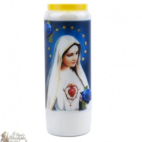Bougie Neuvaine  à  Fatima - prière Anglais