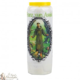 Novena Candle to Francis of Assisi - Prayer
