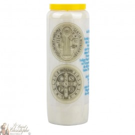 Novena Candle to the Medal of Saint Benedict - German Prayer