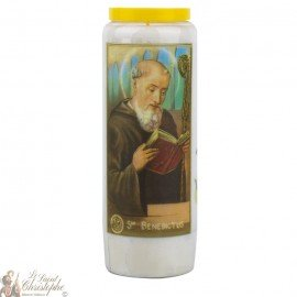 Novena Candle to Saint Benedict - German Prayer