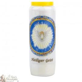 Bougie de neuvaine au Saint Esprit - modèle 2 - prière