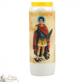 Novena Candle to Saint Expedit - German Prayer