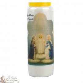 Novena Candle to the Holy Family - German Prayer
