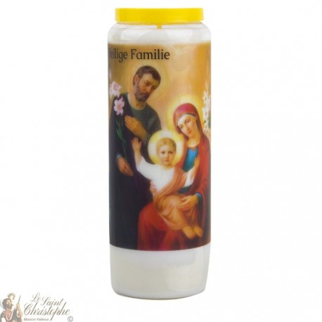 Bougie Neuvaine à la Sainte Famille - prière allemand - 2