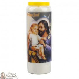 Novena Candle to Saint Joseph - German Prayer