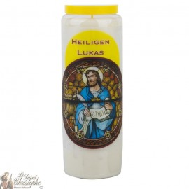 Novena Candle to Saint Luke - German Prayer