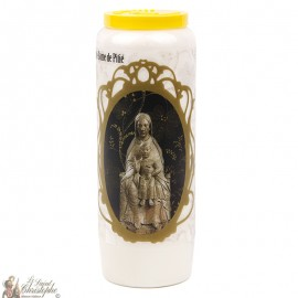 Novena Candle to Our Lady of Mercy - French Prayer