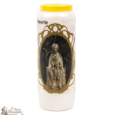 Bougie Neuvaine  à notre dame de la pitié  - prière français-