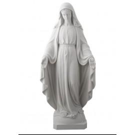 Miraculous Virgin Statue in Alabaster - 17.5 cm