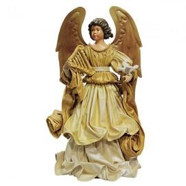 Angel golden dress with dove - 42 cm