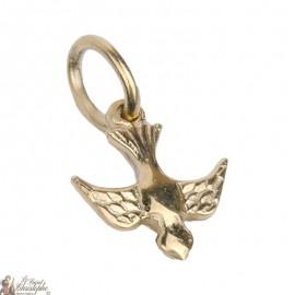 Colgante paloma de la paz - chapado en oro