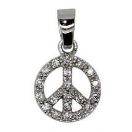 Ciondolo Pace e amore - Argento 925 autentico