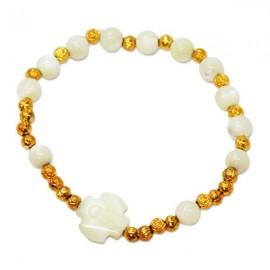 Bracelet ten mother-of-pearl beads