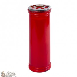 Votive red candle
