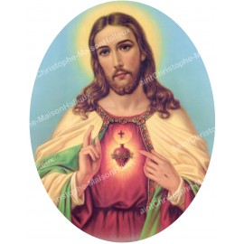 Sacred Heart of Jesus Stickers - oval
