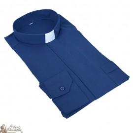 Camicia blu marina prete maniche lunghe