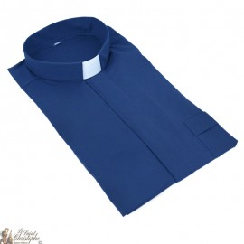 Camicia Sacerdote Blu Navy Manica corta
