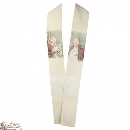 Priest stole embroidered with Fatima