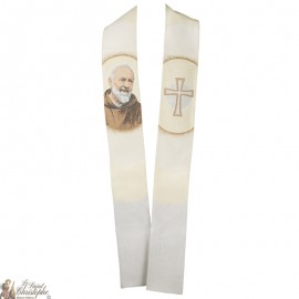 Padre Pio embroidered priest stole