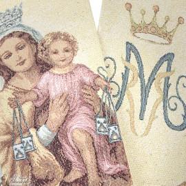 Stola sacerdotale ricamata della Vergine dell'Assunzione