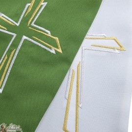 Bicolored Priest Stole Embroidered