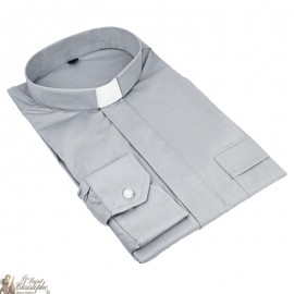 Shirt for priest grey long sleeves