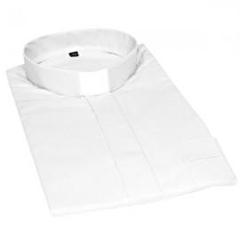 Camicia prete bianca maniche corte