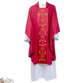 Casulla para sacerdote con estola bordada