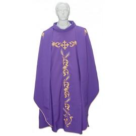 Casula per sacerdote con stola ricamata