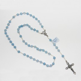 Aquamarine rosary - silver 925