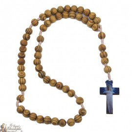 Rosary Saint Joseph in natural olive wood