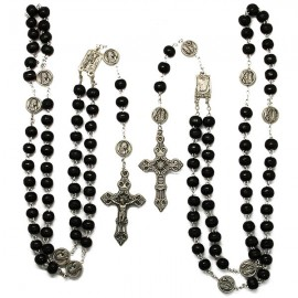 Rosary appearance Heavy brown wood with snap hook