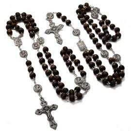 Rosary appearance Heavy black wood